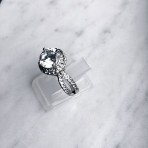 Jewelry - ⭐️ 2ct Round Cubic Zirconia Pave Ring Size 6